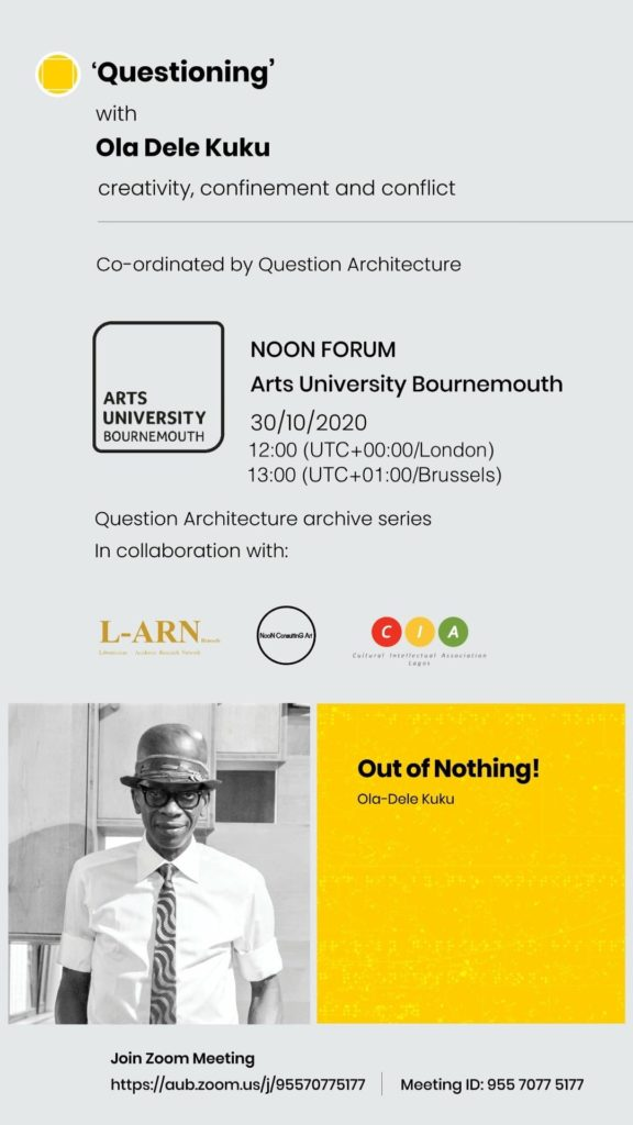 Noon Lecture Oct 30th 2020 Ola-Dele Kuku